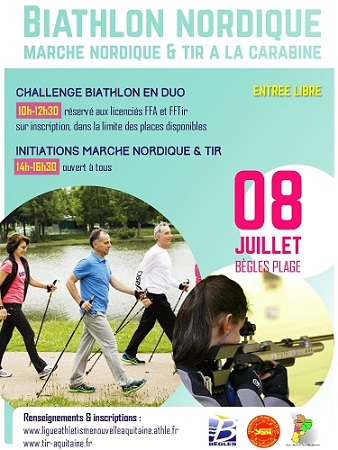 [Agenda] Biathlon Nordique de Bègles 8 juillet 2017